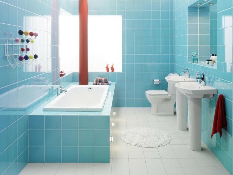disenos de banos-azul-blanco