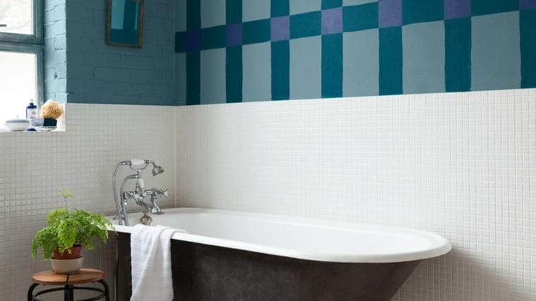 disenos de banos-decoraciones-azules