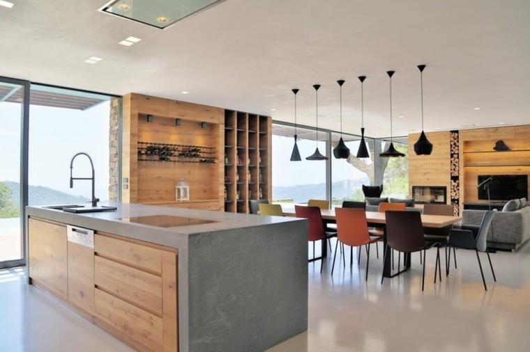 disenos-de-casas-de-un-piso-giordano-hadamik-architects-sala-estar-comedor-cocina-modernos
