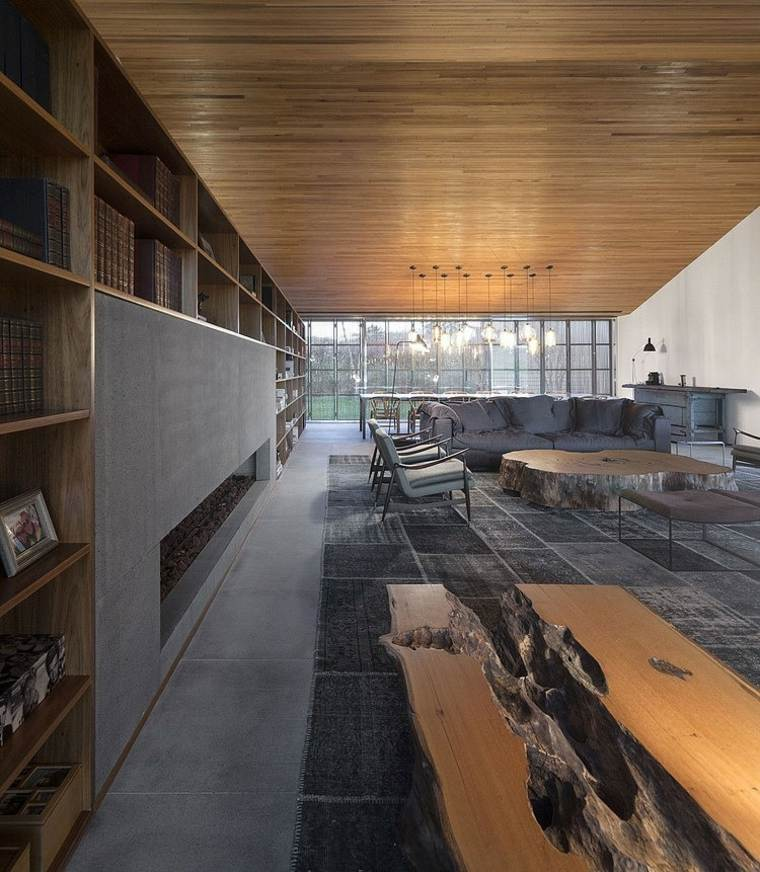 disenos-de-casas-de-un-piso-studiomk27-sala-interior-madera