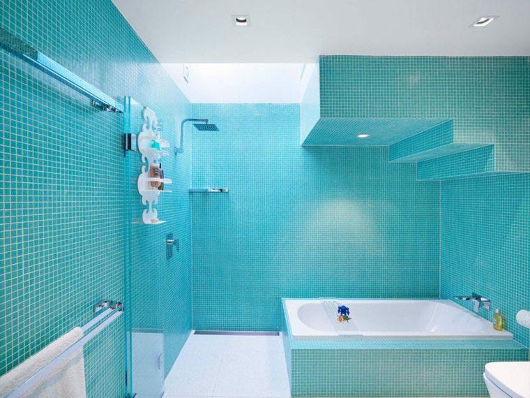 disenos para banos-color-azul