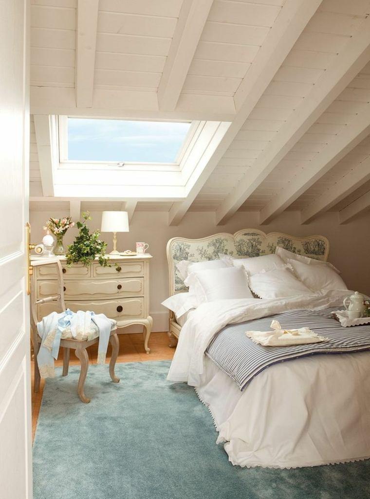 dormitorio-en-el-desvan-vintage