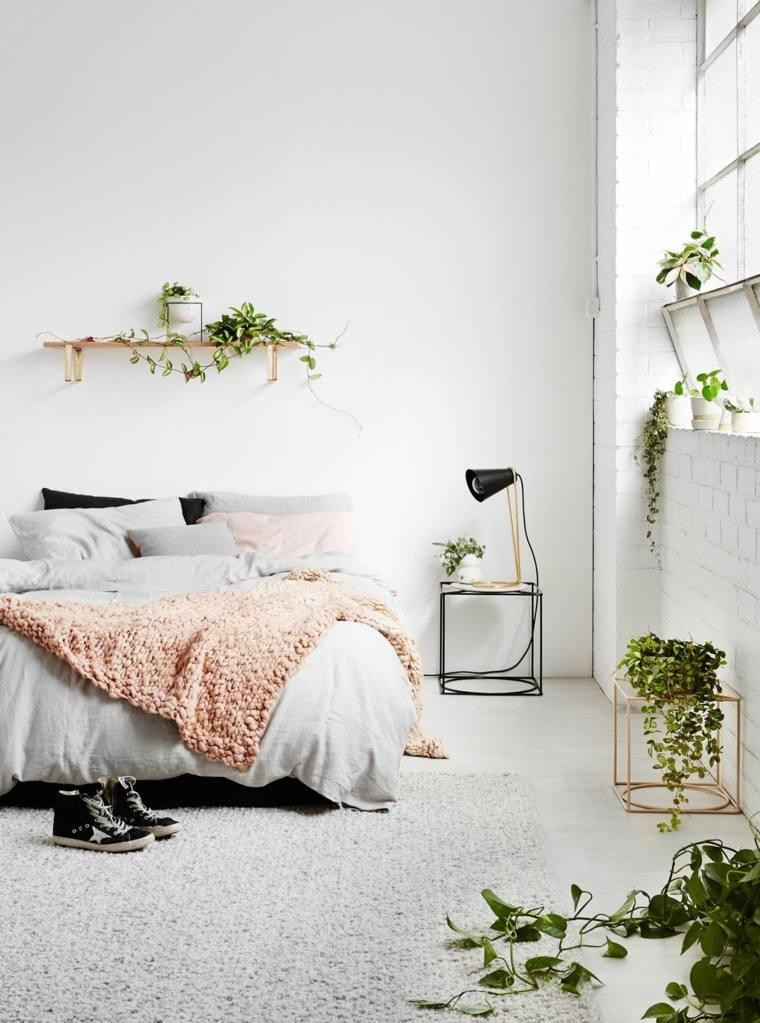 dormitorio-minimalista-con-plantas