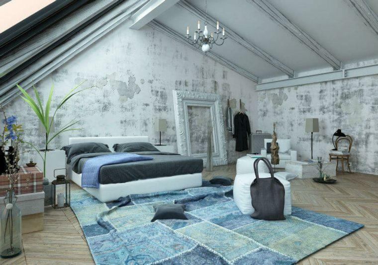dormitorios en-el-desvan-azul