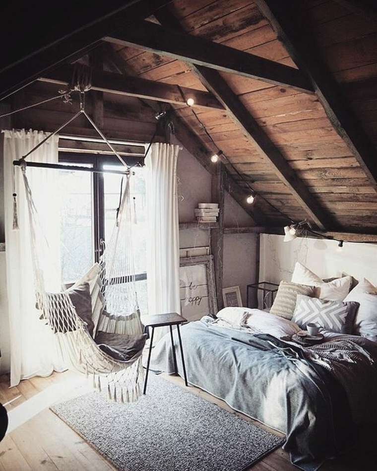 dormitorios en-el-desvan-rustico