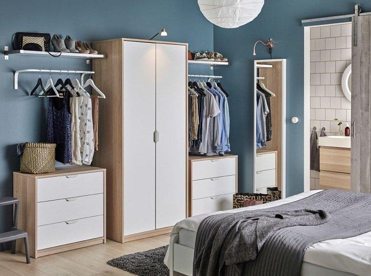 dormitorios ikea-combinacion-blanco-madera-estilo
