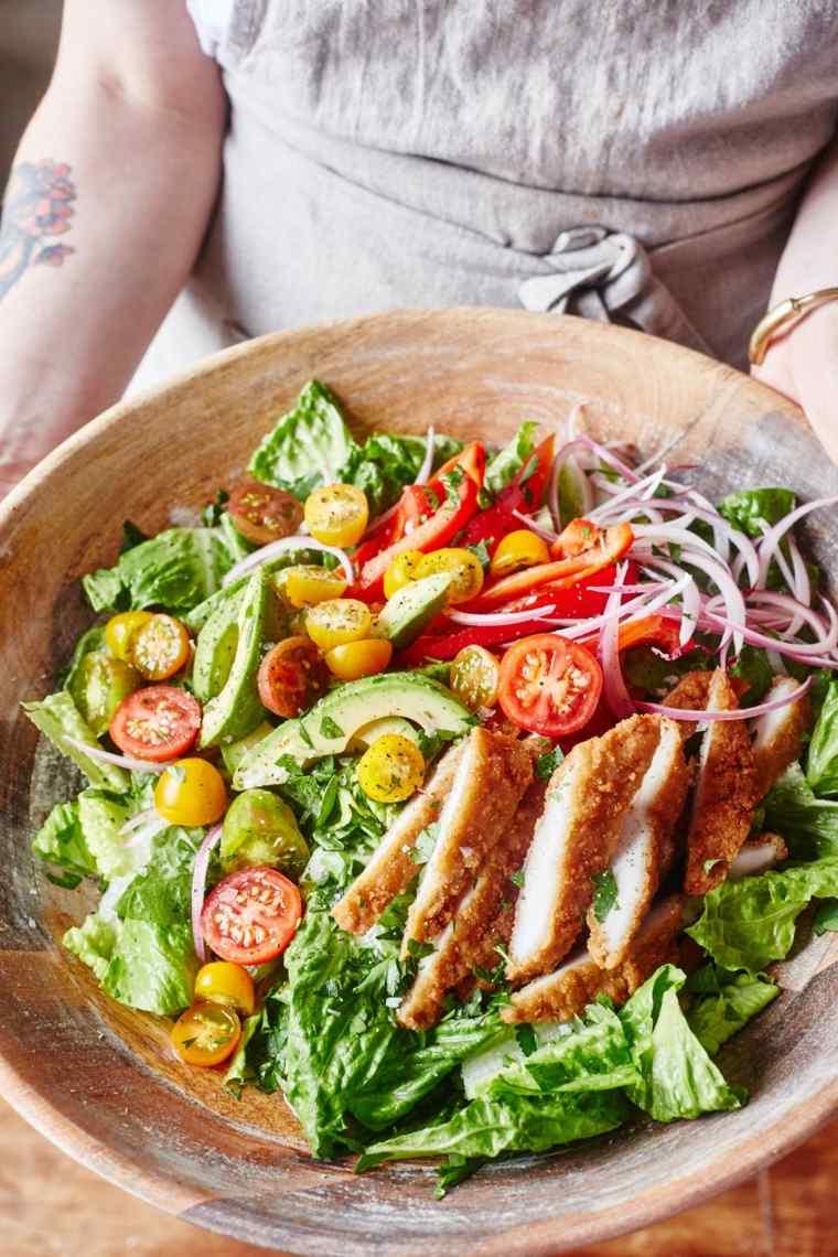 ensaladas frescas con-pollo