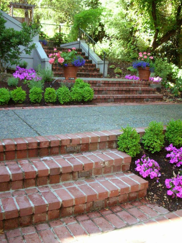 Dise o de escaleras exteriores para jardines modernos - Escaleras para jardin ...