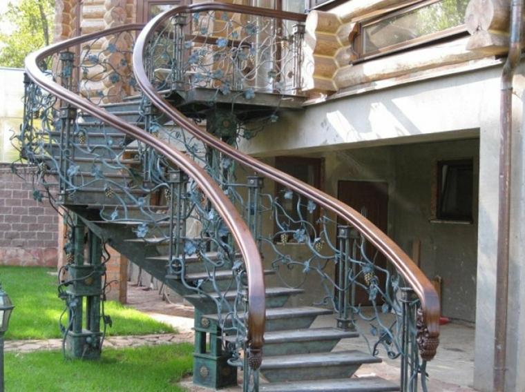 escaleras para casas-modernas-caracol