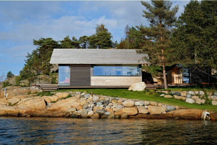 espacios relajantes modernos cabanas