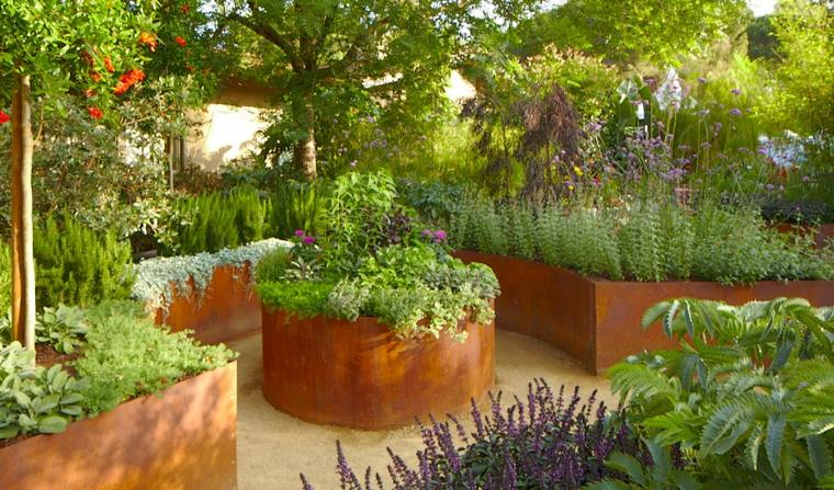 jardineras de Corten