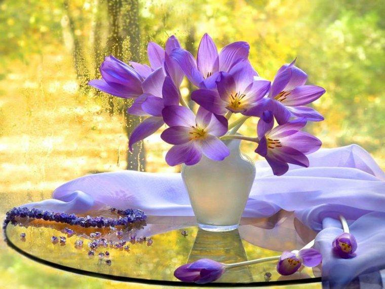 floreros de piso modernos-flores-artificiales