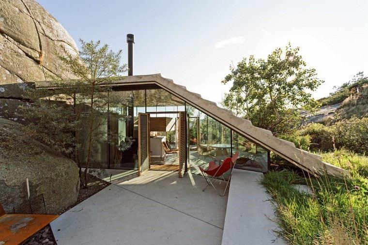 fotos de casas-Noruega-cabana-costa