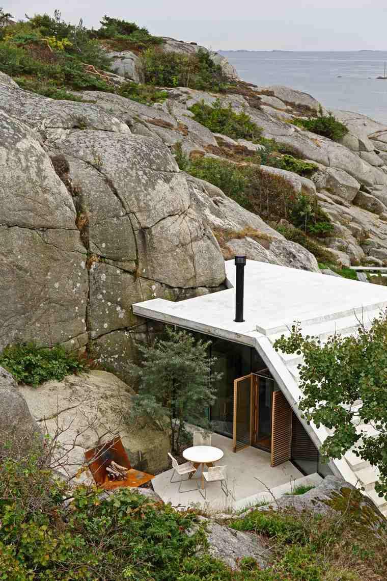 fotos-de-casas-Noruega-cabana-techo-ideas