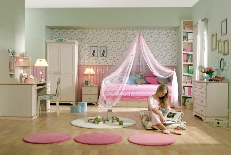 habitación-infantil-rosa-claro