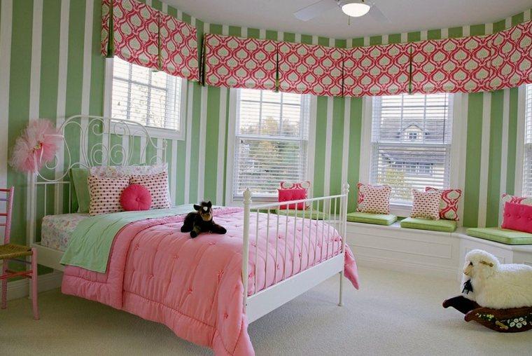 habitacion-rosa-y-verde
