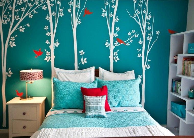 habitaciones-para-niñas-azul