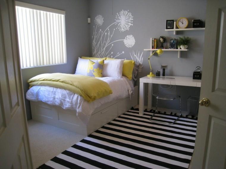 habitaciones-para-niñas-gris