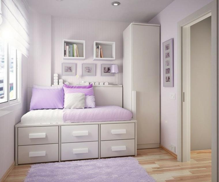 habitaciones para niñas lila