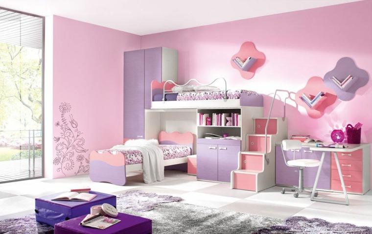 habitaciones para niñas litera