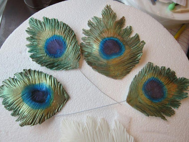 Guirnalda de pluma hecha a mano