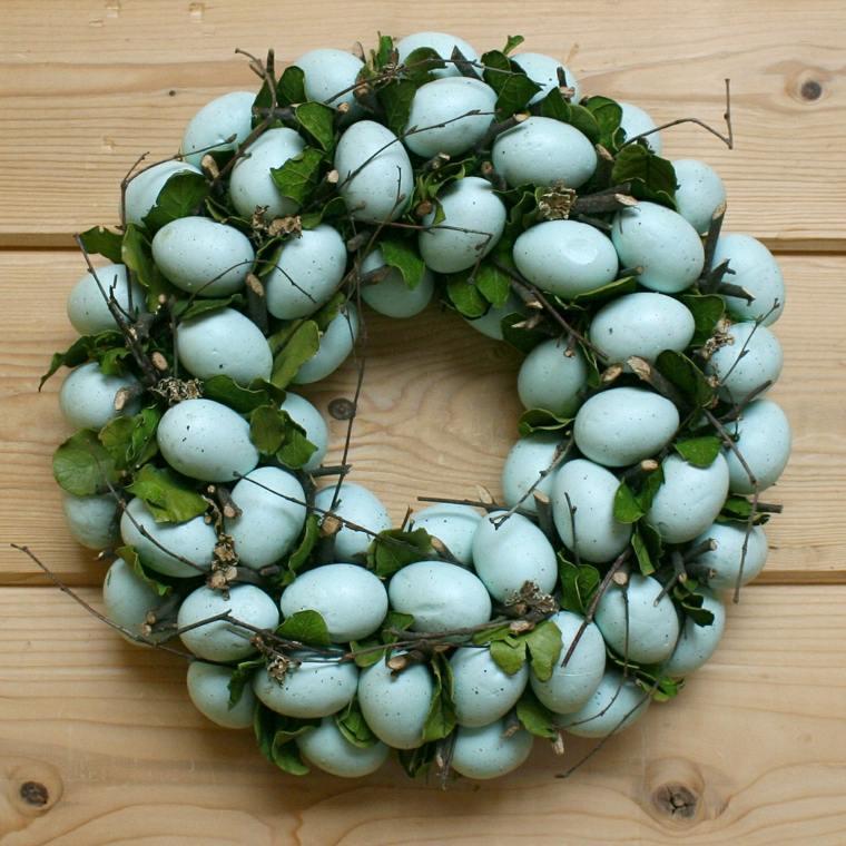 huevos de pascua-azules-decorar-coronas
