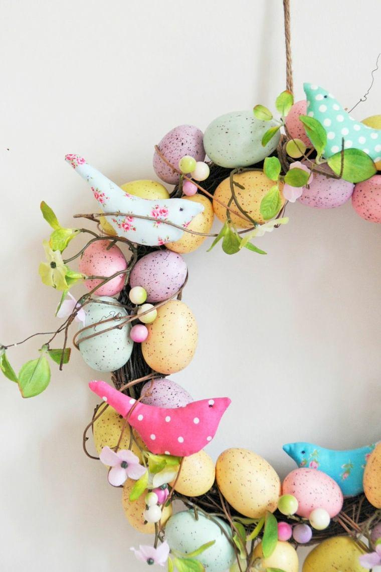huevos de pascua-colocados-coronas