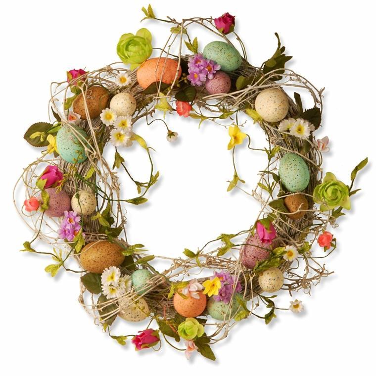 huevos de pascua-flores-decorar