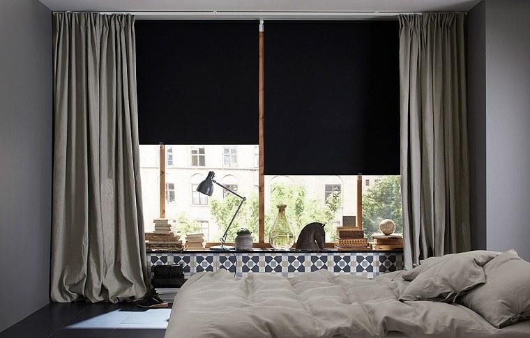 ideas-cortinas-estores-negros-diseno-dormitorio