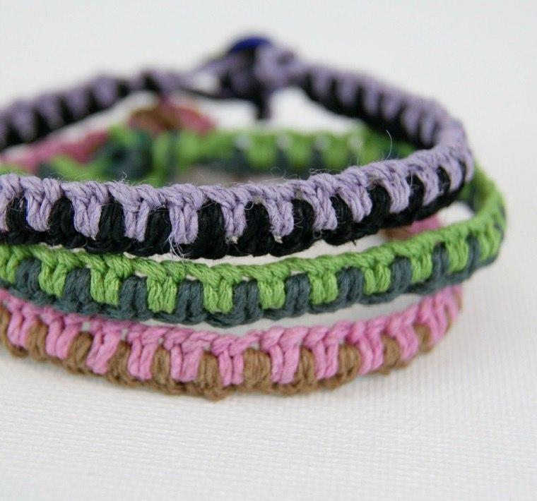 ideas de regalos-pulseras-macrame-adolescentes-manualidades
