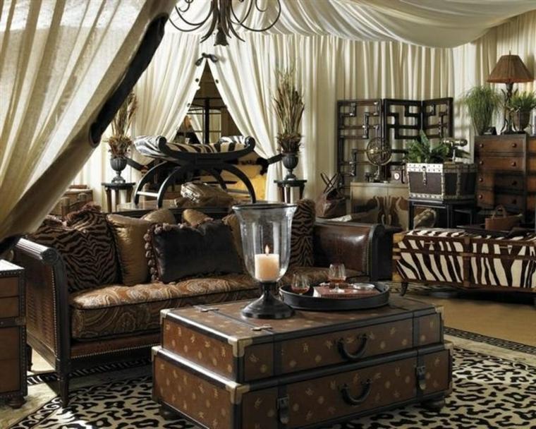 Sal n de estilo colonial elegancia y buen gusto atemporal - Decoracion salon colonial ...