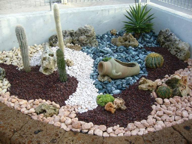 ideas para jardines-decoracion-piedras