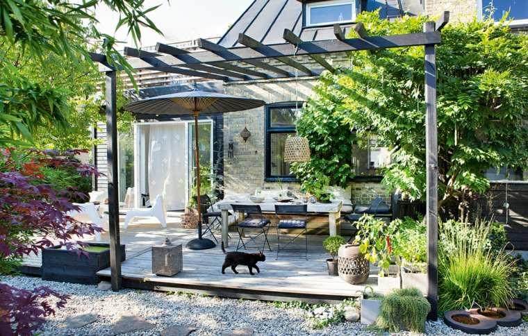 ideas para jardines-pergola-madera