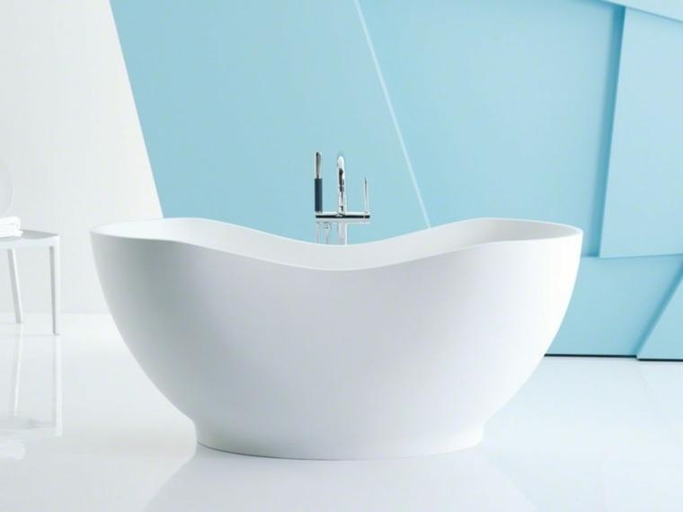 imagenes de banos-blanco-azul