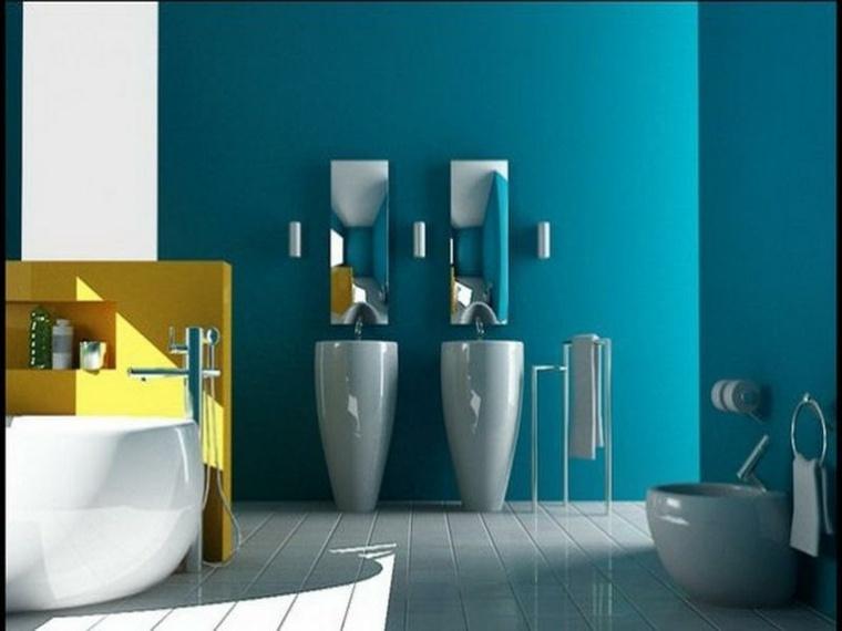 imagenes de banos-color-azul