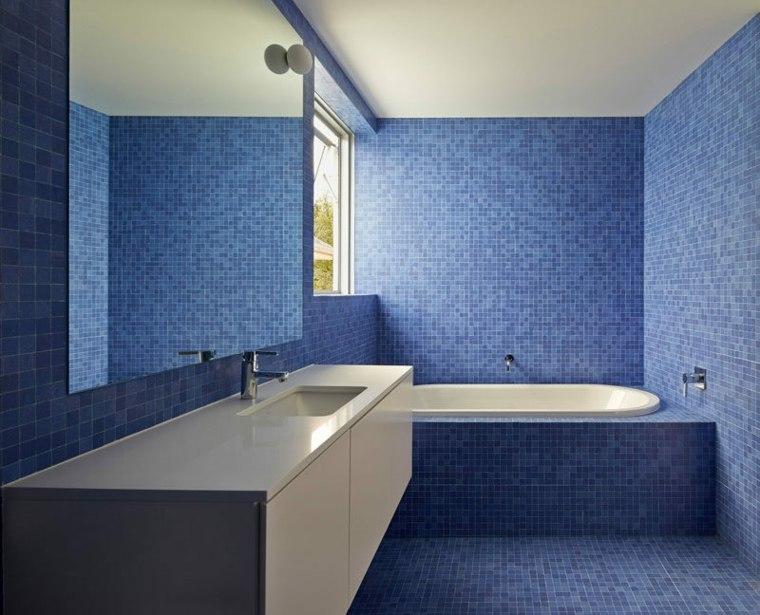 imagenes de banos-mosaico-azul