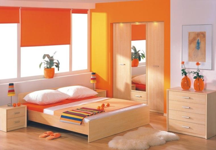 imagenes de recamaras minimalistas-naranjas