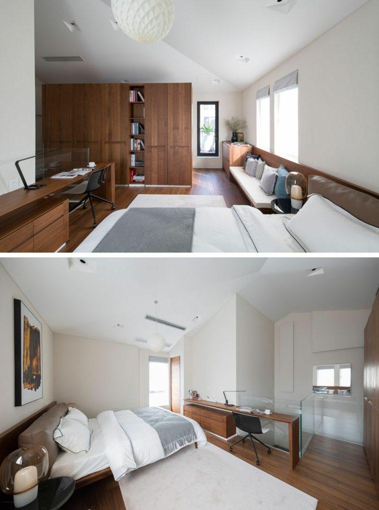 armario alto con estanterías abiertas