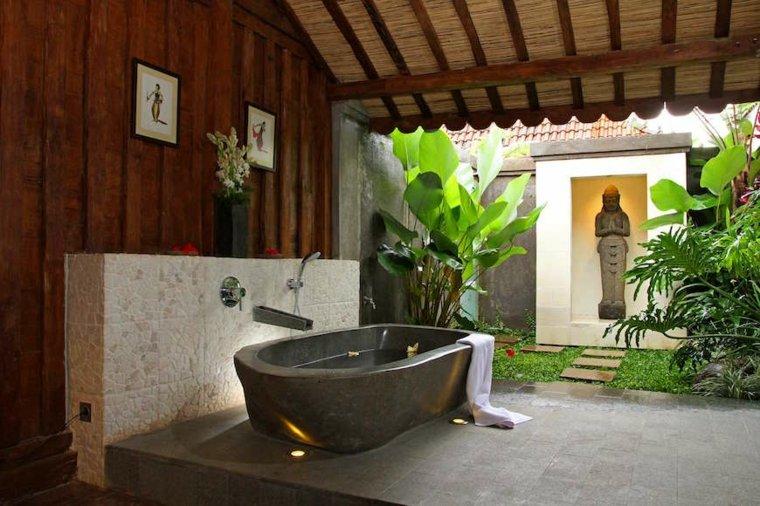 interiores de salas banos-asiaticos