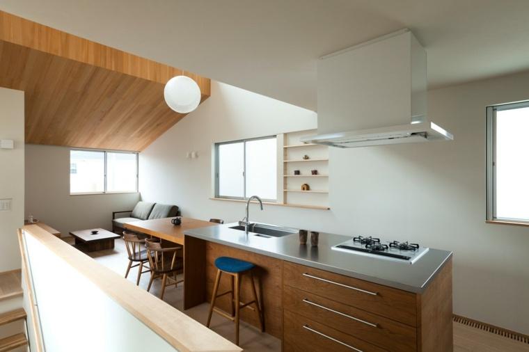 interiores de salas-cocinas