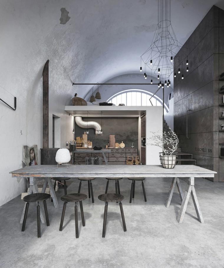 interiores modernos-rustico-industrial