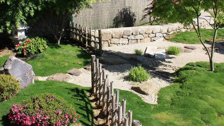 jardín japonés diseno moderno valla