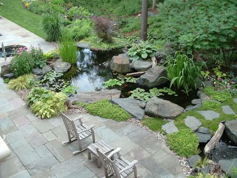 jardín japonés estanque-agua-paz-ezterior