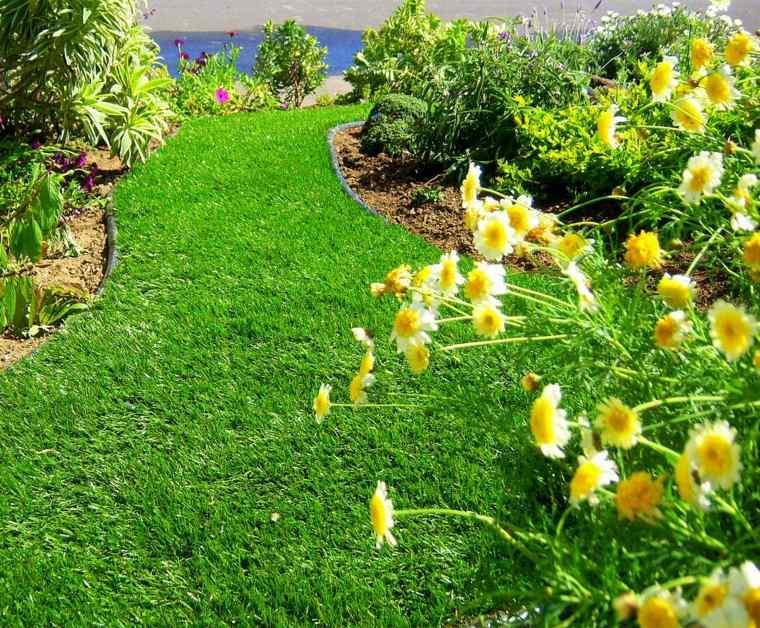 jardinería sendero-de-hierba