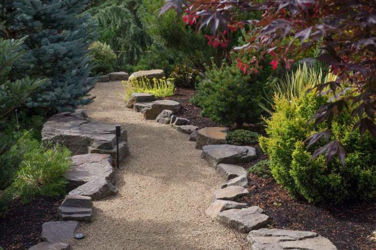 jardinería sendero-de-mantillo