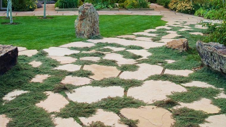 jardinería sendero-de-piedras