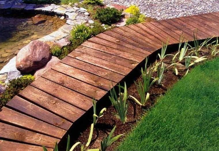 jardinería sendero-de-tablones