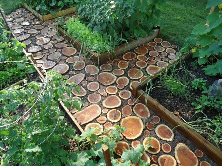 jardinería sendero-de-troncos