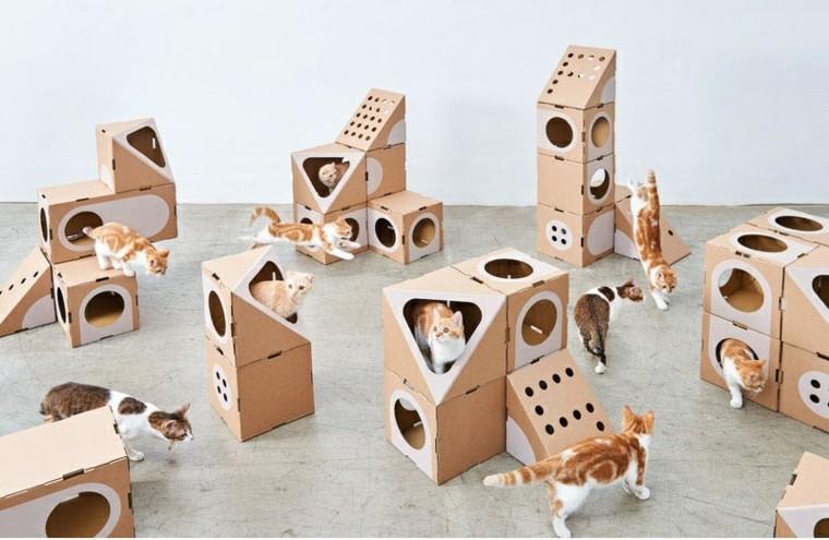 los gatos diseño cajas carton