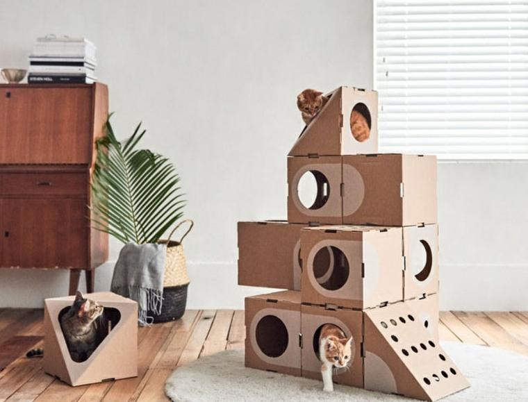 los gatos diseño suelos madera